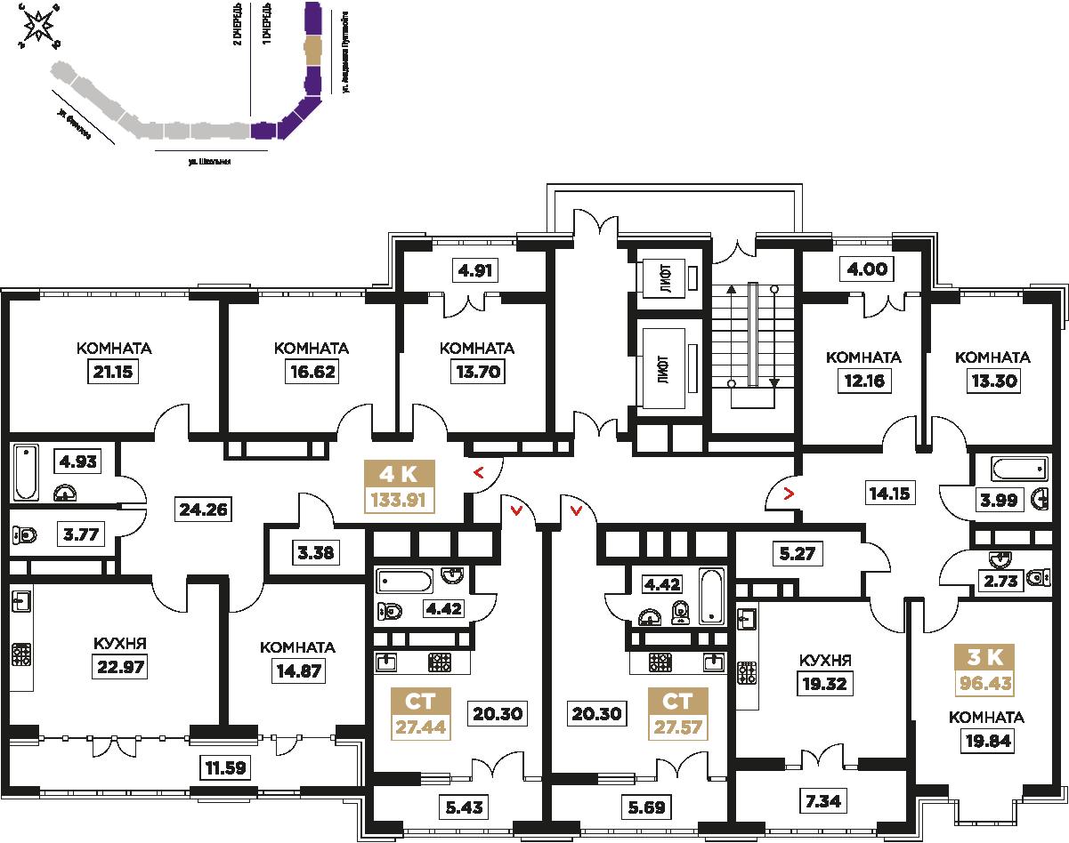 9-17 этаж