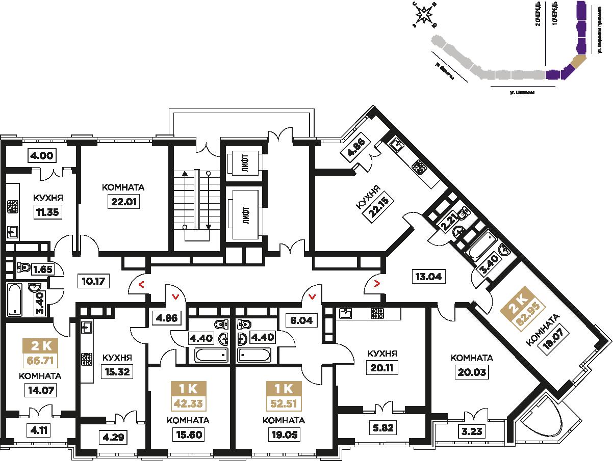 3-19 этаж