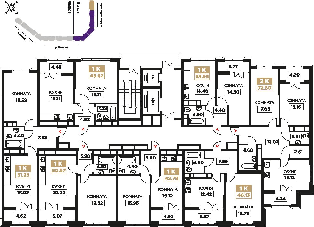 3-15 этаж